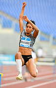Malaika Mihambo (GER) wins the women's long jump at 23-2½ (7.07m)during the 39th Golden Gala Pietro Menena in an IAAF Diamond League meet at Stadio Olimpico in Rome on Thursday, June 6, 2019. (Jiro Mochizuki/Image of Sport)