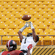 Pittsburgh, PA - November 18: During the Western Pennsylvania Interscholastic Athletic League AAA Boys Football Championship final between Quaker Valley High School and Aliquippa High School at Heinz Field on November 18, 2017 in Pittsburgh, PA.  The Quakers went on to win 2-0. (Photo by Shelley Lipton)