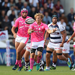 Charl McLeod of Stade Francais during the Top 14 match between Bordeaux Begles and Stade Francais on September 9, 2017 in Bordeaux, France. (Photo by Manuel Blondeau/Icon Sport)