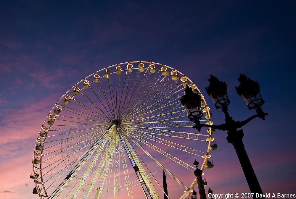 Ferris wheel, Place de la Concorde, Paris, France