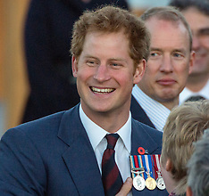 Wellington-Prince Harry mingles with the crowd after wreath laying