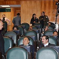Toluca, México.-Aspectos del inicio del Septimo Periodo de Sesiones de la LVIII Legislatura local. Agencia MVT / José Hernández
