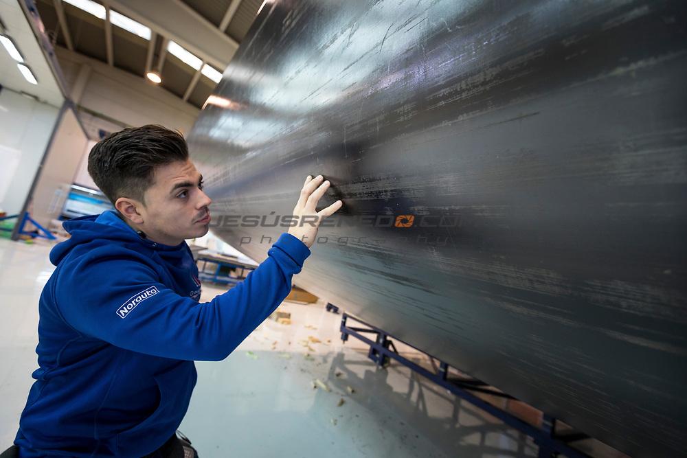 TP 52 Azzurra  2018. Building of the 2018 AZZURRA TP 52 in King Marine, Valencia