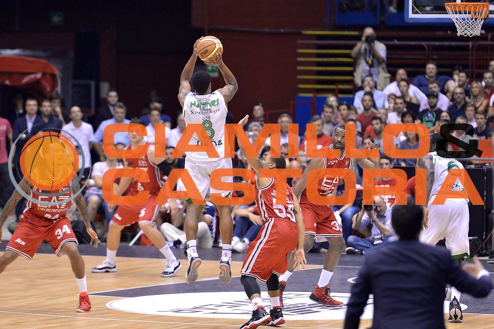 DESCRIZIONE : Milano Lega A 2013-14 EA7 Emporio Armani Milano vs Montepaschi Siena playoff Finale gara 5<br /> GIOCATORE : Haynes Marquez<br /> CATEGORIA : Tre punti<br /> SQUADRA : Montepaschi Siena<br /> EVENTO : Finale gara 5 playoff<br /> GARA : EA7 Emporio Armani Milano vs Montepaschi Siena playoff Finale gara 5<br /> DATA : 23/06/2014<br /> SPORT : Pallacanestro <br /> AUTORE : Agenzia Ciamillo-Castoria/I.Mancini<br /> Galleria : Lega Basket A 2013-2014  <br /> Fotonotizia : Milano<br /> Lega A 2013-14 EA7 Emporio Armani Milano vs Montepaschi Siena playoff Finale gara 5<br /> Predefinita :