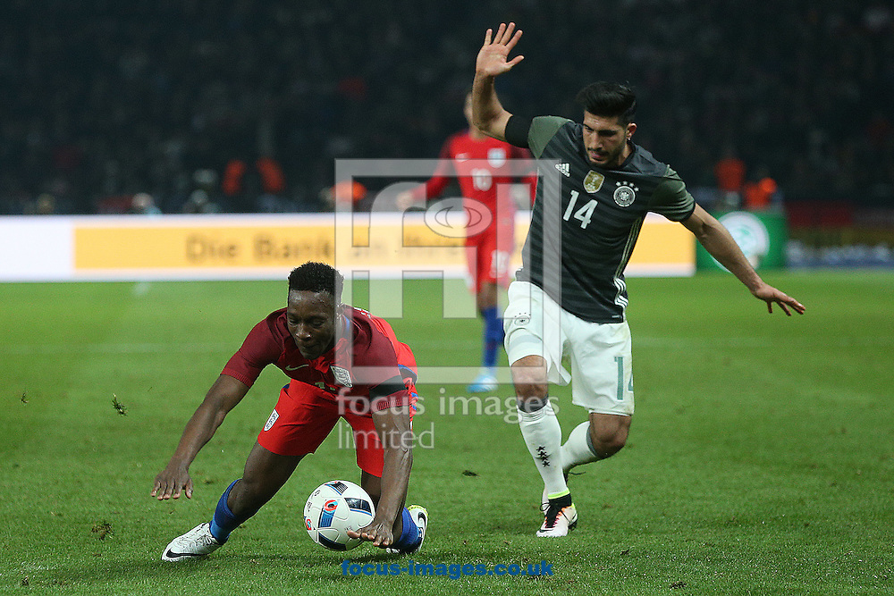 Danny Welbeck of England is fouled by Emre Can of Germany during the International Friendly match at Olympiastadion Berlin, Charlottenburg-Wilmersdo<br /> Picture by Paul Chesterton/Focus Images Ltd +44 7904 640267<br /> 26/03/2016