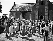 Wedding, Bunclody and Ferns.17/06/1957