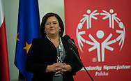 ANNA KOMOROWSKA WHILE SPECIAL OLYMPICS OFFICIAL VISIT AT PRESIDENTIAL PALACE IN WARSAW...THE IDEA OF SPECIAL OLYMPICS IS THAT, WITH APPROPRIATE MOTIVATION AND GUIDANCE, EACH PERSON WITH INTELLECTUAL DISABILITIES CAN TRAIN, ENJOY AND BENEFIT FROM PARTICIPATION IN INDIVIDUAL AND TEAM COMPETITIONS..WARSAW , POLAND , OCTOBER 19, 2011..MANDATORY CREDIT: PHOTO BY ADAM NURKIEWICZ / MEDIASPORT