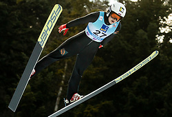 Alexandra Kustova of Russia soaring through the air during 1st Round at Day 1 of World Cup Ski Jumping Ladies Ljubno 2019, on February 8, 2019 in Ljubno ob Savinji, Slovenia. Photo by Matic Ritonja / Sportida