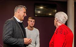 Bristol City Assistant Manager John Pemberton and Aden Flint of Bristol City talk with fans - Mandatory byline: Robbie Stephenson/JMP - 26/04/2016 - FOOTBALL - Ashton Gate - Bristol, England - Players Q&A