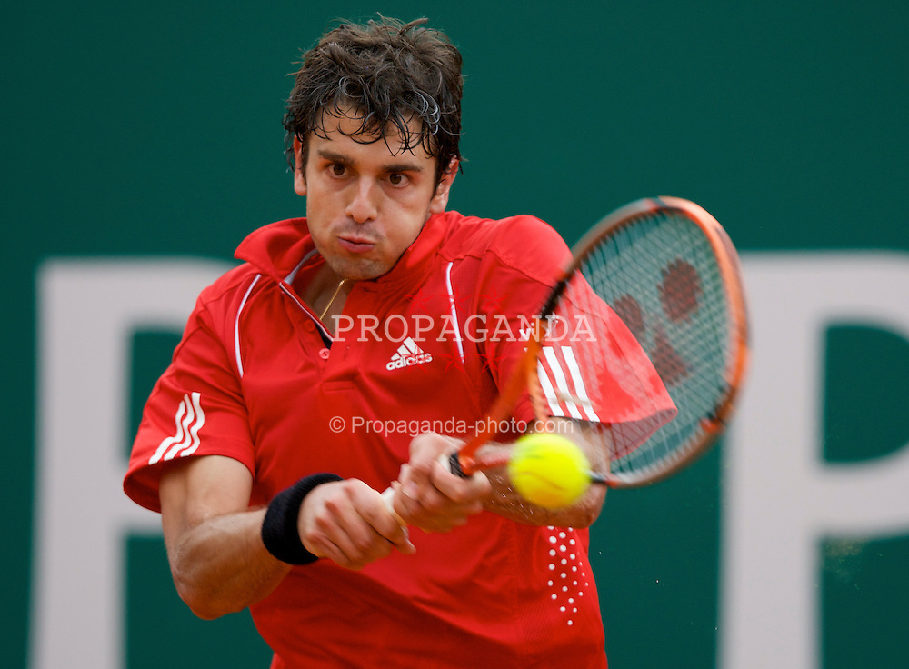 MONTE-CARLO, MONACO - Wednesday, April 23, 2008: Mario Ancic (CRO) during his second round match at the Masters Series Monte-Carlo at the Monte-Carlo Country Club. (Photo by David Rawcliffe/Propaganda)