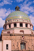 Spanish colonial architecture on the Pima County Courthouse dome, Tucson, Arizona