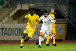 Shamar Amaro Nicholson of Domzale during football match between NK Domzale and NK Rudar in Round #2 of Prva liga Telekom Slovenije 2018/19, on April 29, 2018 in Sports Park Domzale, Domzale, Slovenia. Photo by Urban Urbanc / Sportida