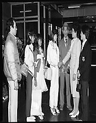 Vietnamese Refugees at Dublin Airport..1985..20.03.1985..03.20.1985..20th March 1985..After the Vietnam war,many European countries opened their doors to the dispossessed. The United Nations and several charities were to the forefront of the campaign to resettle some of the population away from the horrors of a war which had devastated large areas of Vietnam...Picture shows the Vietnamese refugees,(2nd from left),Pham Tri Thiy, Nguyen Tri Dung and Pham Thi Thao as they are met by some of their relations.  Nguyen Thi Thieu,Waterford, greets her sister,Nguyen Thi Dung who she sponsored...