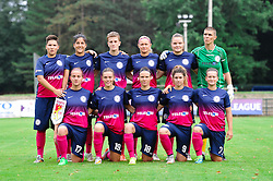 ZNK Teleing Pomurje starting eleven during the UEFA Women's Champions League Qualifying Match between ZNK Teleing Pomurje (SLO) and Olimpia Cluj (ROU) at Sportni Park on August 16, 2015 in Beltinci, Slovenia. Photo by Mario Horvat / Sportida