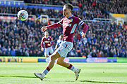 Aston Villa midfielder Jack Grealish (10) has eyes on the ball during the EFL Sky Bet Championship match between Birmingham City and Aston Villa at St Andrews, Birmingham, England on 10 March 2019.