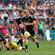 Gillies Kaka breaks for a try vs Australia.  New Zealand defeated Australia 19-7 in the Cup Semi Final, on the 3rd day of the Hong Kong Sevens, Hong Kong.  Photo by Barry Markowitz, (Courtesy STP/TriMarine) 3/20/14, 16:14 pm