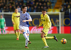 January 27, 2018 - Vila-Real, Castellon, Spain - Pablo Fornals of Villarreal CF and Igor Zubeldia of Real Sociedad during the La Liga match between Villarreal CF and Levante Union Deportiva, at Estadio de la Ceramica, on January 26, 2018 in Vila-real, Spain  (Credit Image: © Maria Jose Segovia/NurPhoto via ZUMA Press)