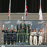 LMGTE Am Podium, #98, Aston Martin Racing, Aston Martin Vantage, LMGTE Am, driven by: Paul Dalla Lana, Pedro Lamy, Mathias Lauda#90, TF Sport, driven by: Salih Yoluc, Euan Hankey, Charles Eastwood#61, Clearwater Racing, Ferrari 488 GTE, driven by: Weng Sun Mok, Keita Sawa, Matthew Griffin, FIA WEC 6hrs of Spa 2018, 05/05/2018,