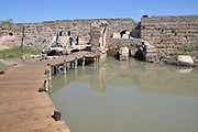 Israel, Maagan Michael, Nahal Taninim - Crocodile River national park, The ancient floodgate device and Roman Aqueduct