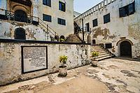 Epitaph of Dutch Governor Veer, Elmina Castle Courtyard
