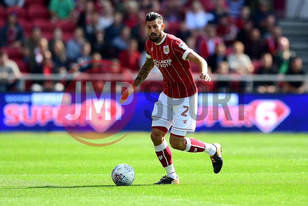 Eros Pisano of Bristol City  - Mandatory by-line: Joe Meredith/JMP - 19/08/2017 - FOOTBALL - Ashton Gate Stadium - Bristol, England - Bristol City v Millwall - Sky Bet Championship