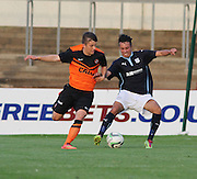Dundee United's Charlie Telfer and Dundee's Dylan Carreiro - Dundee v Dundee United, SPFL Development League at Gayfield, Arbroath<br /> <br />  - &copy; David Young - www.davidyoungphoto.co.uk - email: davidyoungphoto@gmail.com