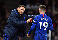 Football - 2019 / 2020 Premier League - Tottenham Hotspur vs. Chelsea<br /> <br /> Chelsea Manager Frank Lampard in conversation with Chelsea's Mason Mount, at The Tottenham Hotspur Stadium.<br /> <br /> COLORSPORT/ASHLEY WESTERN