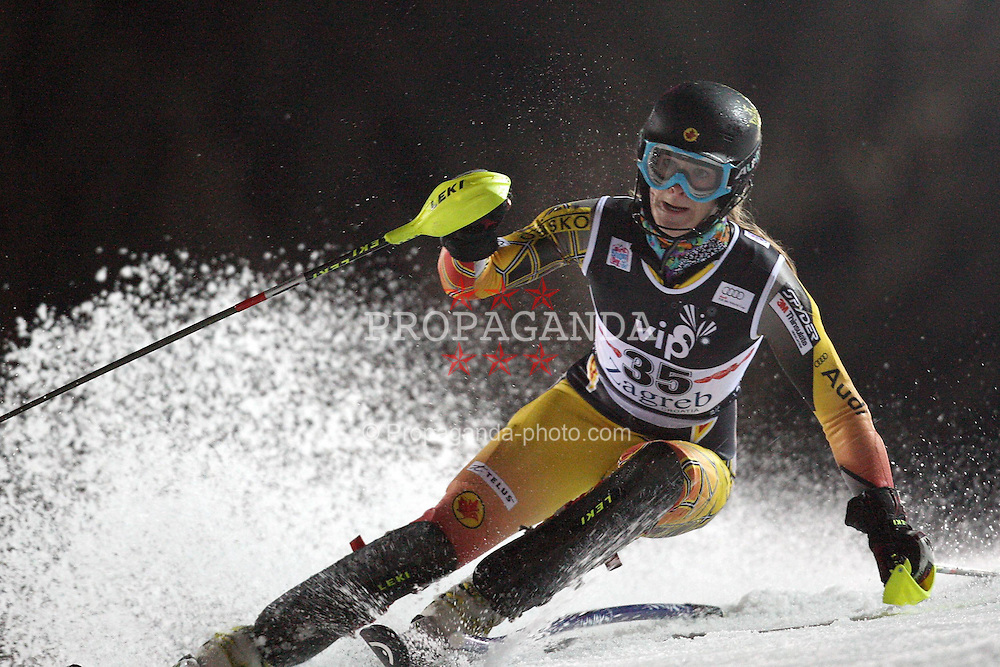 03.01.2012, Crveni Spust, Sljeme, CRO, FIS Weltcup Ski Alpin, Zagreb, Damen Slalom 2. Durchgang, im Bild Anna Goodman during Slalom race 2nd run of FIS Ski Alpine World Cup at 'Crveni Spust' course in Sljeme, Zagreb, Croatia on 2012/01/03. EXPA Pictures © 2012, PhotoCredit: EXPA/ nph/ PIXSELL/ Slavko Midzor..***** ATTENTION - OUT OF GER, CRO *****