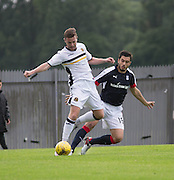 Dumbarton Grant Gallagher and Dundee&rsquo;s Julen Etxabeguren  - Dumbarton v Dundee, pre-season friendly at the Cheaper Insurance Direct Stadium, Dumbarton<br /> <br />  - &copy; David Young - www.davidyoungphoto.co.uk - email: davidyoungphoto@gmail.com