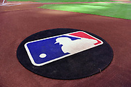 PHOENIX, AZ - APRIL 08:  A view of the on deck circle with the MLB logo as it sits on Chase Field on April 8, 2017 in Phoenix, Arizona. (Photo by Jennifer Stewart/Getty Images)