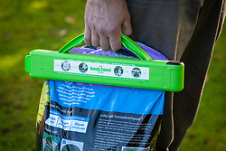 Clip for re-sealing bags of compost to keep fresh