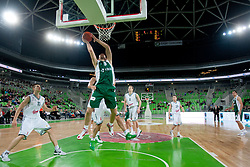 Smiljan Pavic of KRKA Novo Mesto during basketball match between KK Union  Olimpija and and KK KRKA Novo Mesto in 20th Round of ABA League, on February 11, 2012, in Arena Stozice, Slovenia. (Photo by Matic Klansek Velej / Sportida)