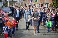 30-3-2016 Nieuwer Ter Aa  - Queen Maxima visit Wednesday, March 30th Village Our Pleasure In Newer Ter Aa. The village is one of the eleven nominees for the Apples of Orange in 2016, the annual award of the Oranje Fonds. COPYRIGHT ROBIN UTRECHT<br /> 30-3-2016 Nieuwer Ter Aa - NIEUWER TER AA - Koningin Maxima brengt als beschermvrouwe van het Oranje Fonds een bezoek aan Dorpshuis Ons Genoegen. Het dorpshuis is een van de elf genomineerden voor de Appeltjes van Oranje 2016, de jaarlijkse prijs van het Oranje Fonds.  Koningin Maxima bezoekt woensdag 30 maart Dorpshuis Ons Genoegen in Nieuwer Ter Aa. Het dorpshuis is &eacute;&eacute;n van de elf genomineerden voor de Appeltjes van Oranje 2016, de jaarlijkse prijs van het Oranje Fonds. COPYRIGHT ROBIN UTRECHT