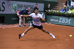 June 7, 2017 - Roland Garros Porte D Auteuil, France - 11e  journee : Novak Djokovic (Credit Image: © Panoramic via ZUMA Press)