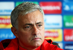 Manchester United manager Jose Mourinho during the press conference - Mandatory by-line: Matt McNulty/JMP - 11/09/2017 - FOOTBALL - AON Training Complex - Manchester, England - Manchester United v FC Basel - Press Conference & Training - UEFA Champions League - Group A