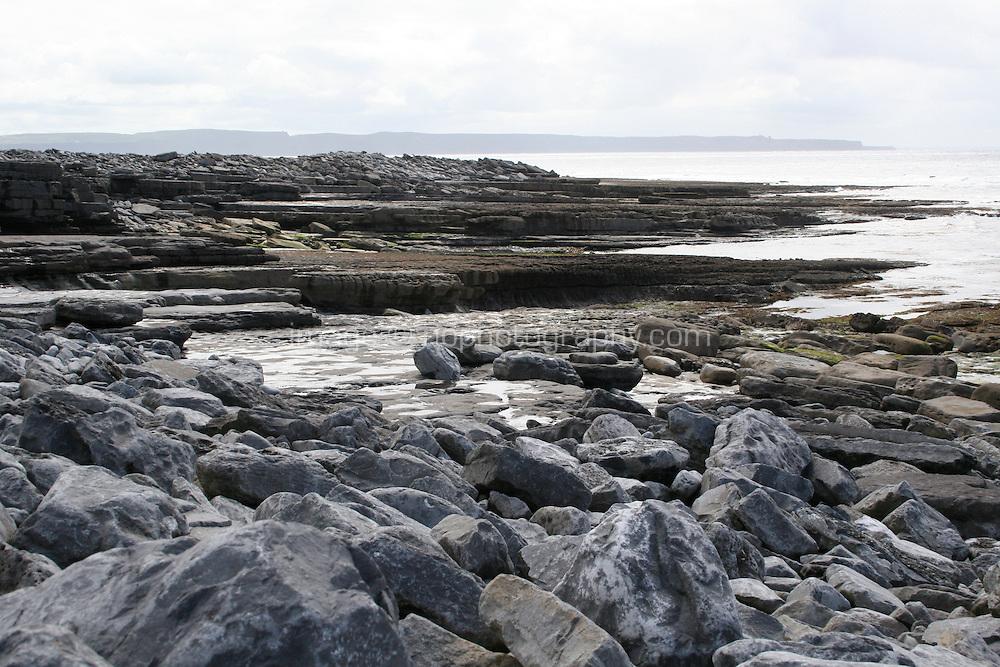 Limestone rock on Inis Oirr Island the Aran Islands County Galway Ireland