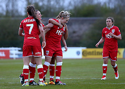 Millie Farrow of Bristol City Women celebrates scoring her second goal - Mandatory by-line: Robbie Stephenson/JMP - 28/04/2016 - FOOTBALL - Stoke Gifford Stadium - Bristol, England - Bristol City Women v Aston Villa Ladies - FA Women's Super League 2