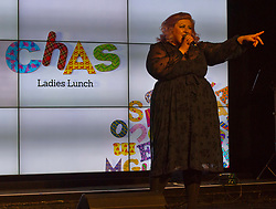 Pictured: Michelle McManus<br /> Michelle McManus entertained the women who attended todays' annual Children's Hospice Across Scotland (CHAS)  fundraising lunch at Prestonfield House Edinburgh. <br /> <br /> CHAS have been offering full family support for babies and young people with life shortening conditions for the last 20 years.<br /> <br /> Ger Harley | EEm 2 November 2018
