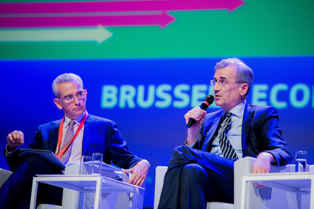Brussels, Belgium, 9 June 2016<br /> Brussels Economic Forum 2016.<br /> Francois Villeroy De Galhau, Governor, Banque de France. <br /> The Brussels Economic Forum (BEF) is the flagship annual economic event of the European Commission.<br /> The BEF brings together top European and international policymakers and opinion leaders as well as civil society and business leaders. It is the place to take stock of economic developments, identify key challenges and debate policy priorities.<br /> Photo: European Commission / Ezequiel Scagnetti