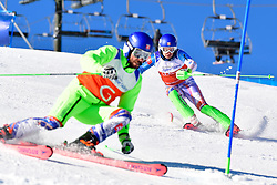 HARAUS Miroslav, Guide: HUDIK Maros, B2, SVK, Slalom at the WPAS_2019 Alpine Skiing World Cup, La Molina, Spain