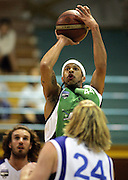 Josh Goodwin in action during the NBL basketball match between the Youthtown Auckland Stars and the Manawatu Jets at the ASB Stadium, Auckland, New Zealand on Thursday 5 April 2007. Photo: Hannah Johnston/PHOTOSPORT<br /> <br /> <br /> <br /> 050407
