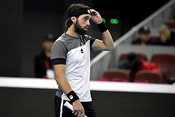 October 8, 2018 - Beijing, Beijing, China - Beijing, CHINA-Professional tennis player Nikoloz Basilashvili defeats Kyle Edmund 2-0 at the semi-final of 2018 China Open in Beijing, China, October 6th, 2018. (Credit Image: © SIPA Asia via ZUMA Wire)