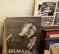 Photographs, and other materials, of former Congressman Ben Gilman are in a temporary storage in a room  in the basement of Morrison Hall on the SUNY Orange Middletown campus on Wednesday, Feb. 3, 2010. Gilman donated the materials to the college.