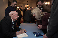 A fan gets Alan Gilzean's autograph - Dundee FC night of champions at the Whitehall Theatre, Dundee, Photo: David Young<br /> <br />  - &copy; David Young - www.davidyoungphoto.co.uk - email: davidyoungphoto@gmail.com