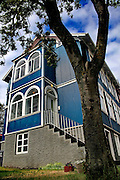 Iceland, Reykjavik, colourful home