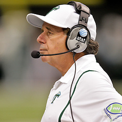 Sep 26, 2009; New Orleans, LA, USA; Tulane Green Wave head coach Bob Toledo on the sideline against the McNesse State Cowboys at the Louisiana Superdome. Tulane defeated McNeese State 42-32. Mandatory Credit: Derick E. Hingle-US PRESSWIRE