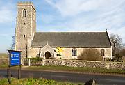Village parish church and churchyard, Saint Mary, Henstead, Suffolk, England, UK