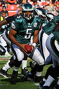 LANDOVER, MD - NOVEMBER 11: Donovan McNabb #5 of the Philadelphia Eagles looks to hand off the ball during the game against the Washington Redskins on November 11, 2007 at FedEx Field in Landover, Maryland. The Eagles won 33-25.