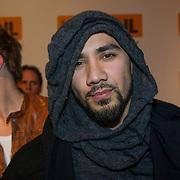 NLD/Amsterdam/20140205 - Uitreiking 100% NL Awards 2013, Woodstick