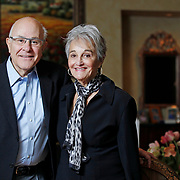 Gabriel and Jeannine Viti pose for a photograph at their Highland Park home, Saturday, January 5, 2013. (Photography by J.Geil)